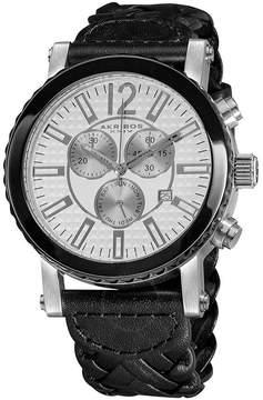 Akribos XXIV Akribos Chronograph Black Leather Men's Watch
