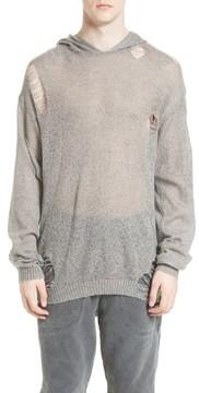 Drifter Men's Odin Destroyed Hoodie Sweater