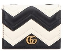 Gucci Women's White/black Leather Card Holder. - WHITE - STYLE