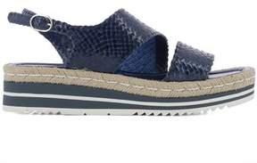 Pons Quintana Women's Blue Leather Sandals.