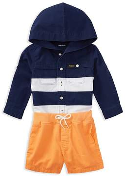 Ralph Lauren Boys' Ripstop Hooded Shirt & Chino Shorts Set - Baby