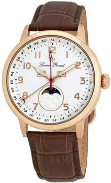 Lucien Piccard Silver Dial Leather Men's Watch