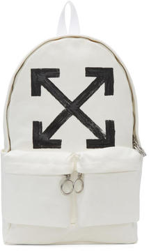Off-White White Brushed Arrows Backpack