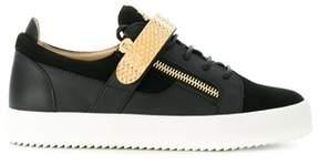 Giuseppe Zanotti Design Men's Black Leather Sneakers.