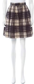 Cacharel Plaid Knee-Length Skirt
