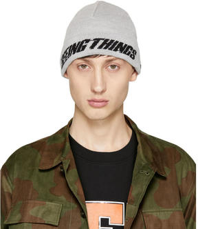 Off-White Grey Seeing Things Beanie