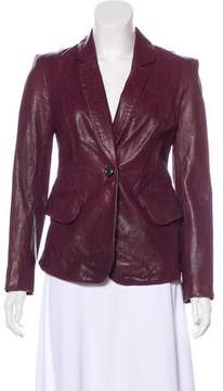 Rachel Zoe Structured Leather Jacket