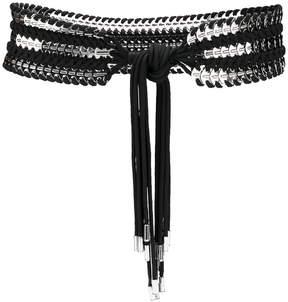 DSQUARED2 coin embellished belt