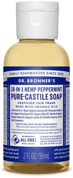 Dr. Bronner's Trial Size Peppermint Liquid Soap by 2oz Liquid Soap)