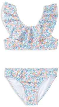 Polo Ralph Lauren Girls' Ruffled 2-Piece Floral-Print Swimsuit - Big Kid