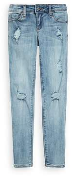 Tractr Girl's Washed Ripped Skinny Jeans