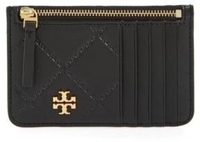 Tory Burch Women's Georgia Leather Card Case - Black - BLACK - STYLE