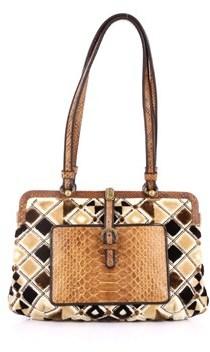 Bottega Veneta Pre-owned: Frame Shoulder Bag Python And Velvet Medium.