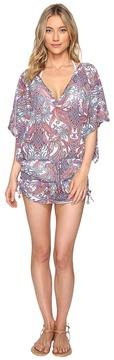 Luli Fama Rebeldia Cabana V-Neck Dress Women's Dress