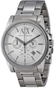 Armani Exchange Silver-Tone Dial Chronograph Men's Watch