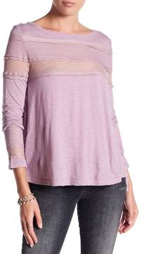 Anama Hi-Low Hem Lace Accent Top