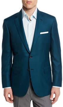 Brioni Houndstooth Wool-Blend Sport Coat, Green