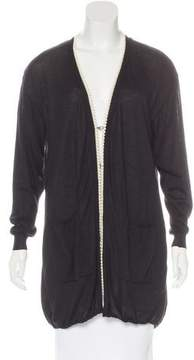 Andrew Gn Pearl-Accented Wool Cardigan