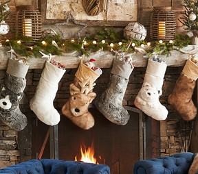 Faux Fur Stocking Collection | Family Christmas Stocking Sets ...