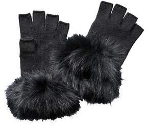 Sofia Cashmere sofiacashmere Sofiacashmere Fingerless Cashmere Gloves.