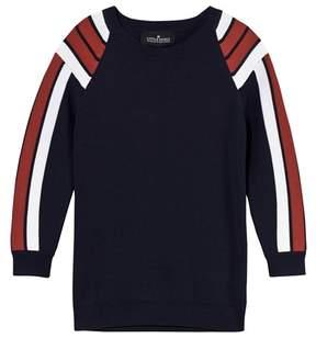 Little Remix Jr Casey Stripe Navy/Dusty Red/White