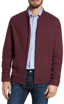 Nordstrom Wool Blend Fleece Bomber Jacket