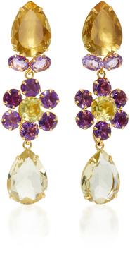 Bounkit Amethyst and Lemon Quartz Four-Way Earrings