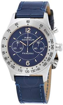 Panerai Mare Nostrum Acciaio Chronograph Blue Dial Men's Watch