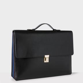 Paul Smith Men's Black 'Concertina' Briefcase