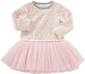 Mud Pie Leopard Sweatshirt Tutu Dress Girl's Dress