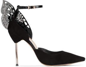 Sophia Webster Black Suede Flutura ankle strap 115 Heels