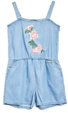 GUESS Girl's Sleeveless Chambray Romper (7-16)