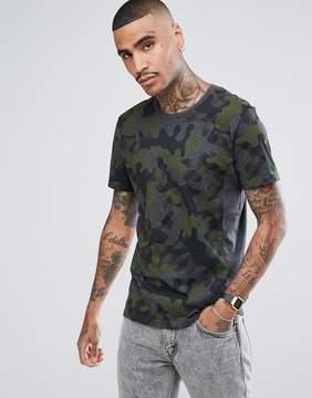 Aquascutum London Lancelot All Over Camo T-Shirt in Gray