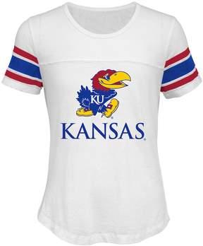 NCAA Girls 7-16 Kansas Jayhawks Team Pride Burnout Tee