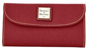 Dooney & Bourke Saffiano Continental Clutch Wallet - BORDEAUX - STYLE