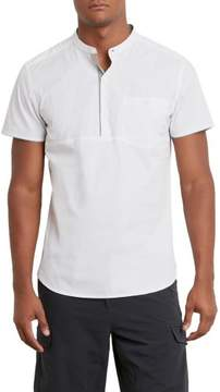 Kenneth Cole New York Short-Sleeve Solid Popover - Men's