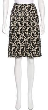 Dries Van Noten Embellished Pencil Skirt