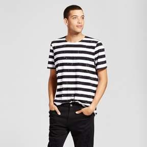 Jackson Men's Short Sleeve Curved Hem T-Shirt Bleached Stripe