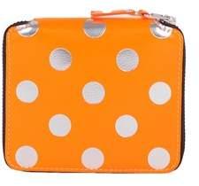 Comme des Garcons Women's Orange Leather Wallet.