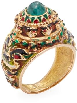 Amrapali Women's 18K Yellow Gold, Emerald & Ruby Cocktail Ring