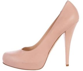 Alejandro Ingelmo Leather Round-Toe Pumps