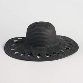 World Market Black Cutout Sun Hat