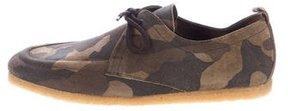 Burberry Camouflage Derby Shoes