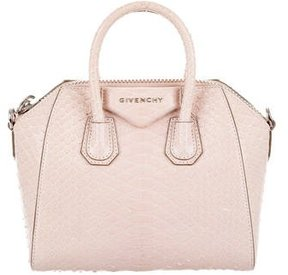 Givenchy Mini Antigona Shiny Python Satchel