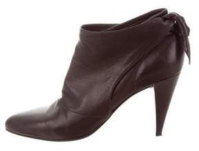 Sigerson Morrison Pointed-Toe Leather Booties