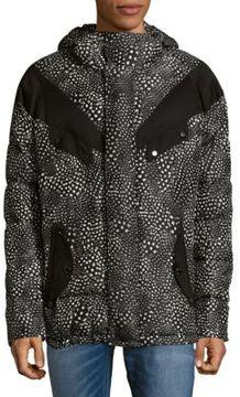 Roberto Cavalli Printed Woven Hooded Jacket