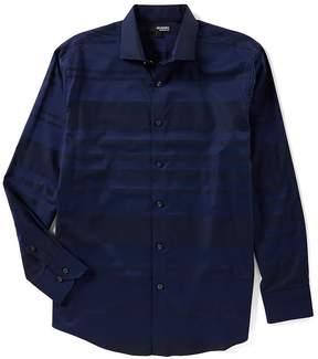 Murano Liquid Luxury Long Sleeve Stripe Spread Collar Woven Shirt