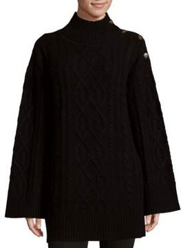 Saks Fifth Avenue BLACK Cable-Knit Sweater
