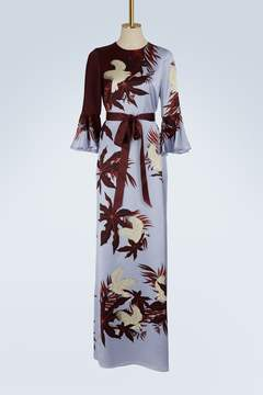 Erdem Linzea long sleeves satin dress