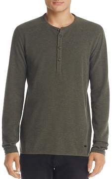 BOSS ORANGE Topsider Long Sleeve Waffle Henley
